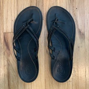 Olukai Leather Flip Flops